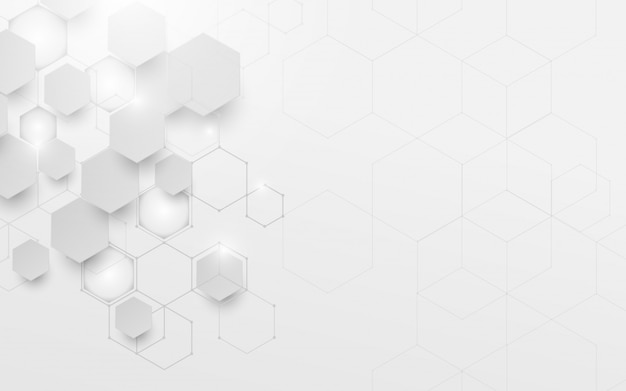 Abstracte witte en grijze geometrische technologie digitale hallo technologie