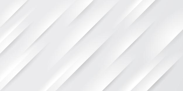 Abstracte witte en grijze kleurverloop met schuine lijnen strepen achtergrond.