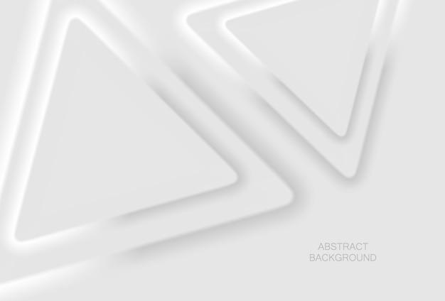 Abstracte witte geometrische 3d-achtergrond. vectorillustratie