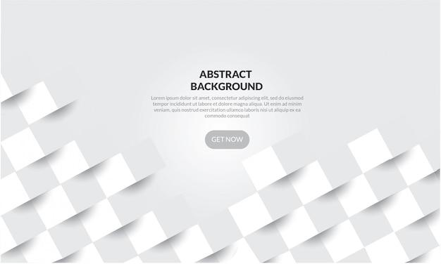 Abstracte witte geometrische vormachtergrond met 3d document stijl