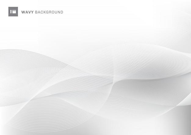 Abstracte witte golvende het patroonachtergrond van golflijnen