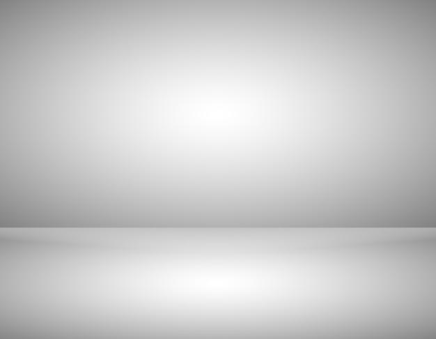 Abstracte witte lege ruimte, nis met witte muur, vloer, plafond, donkere kant zonder enige texturen, doos bovenaanzicht kleurloze 3d illustratie.
