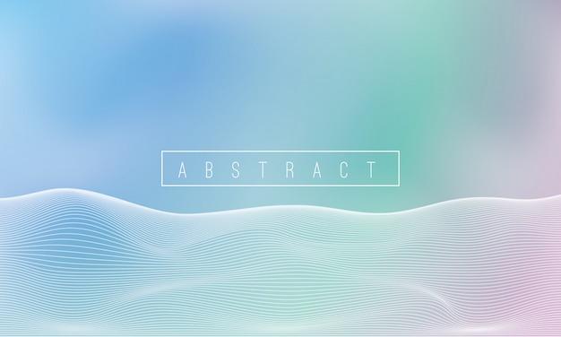 Abstracte witte lijngolf en kleurrijke achtergrond