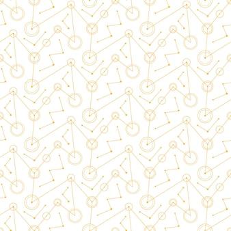 Abstracte witte mechanische cirkels lijnen. naadloos patroon.
