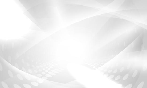 Abstracte witte poster als achtergrond met dynamisch. technologie netwerk vector illustratie.