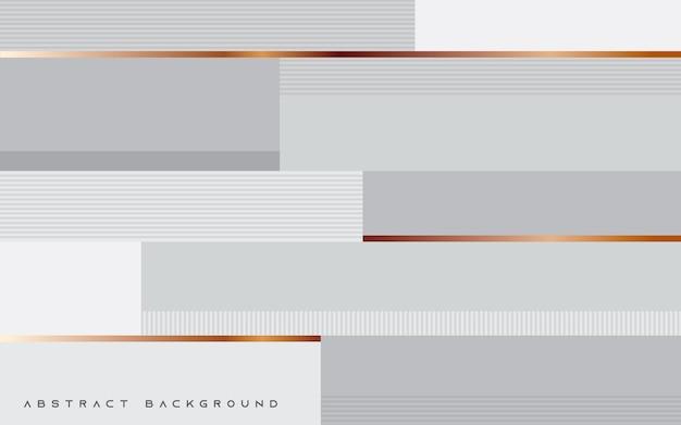 Abstracte witte textuurachtergrond met gouden lijn