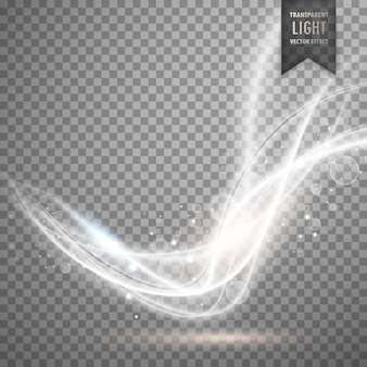 Abstracte witte transparante licht effect vector achtergrond