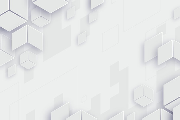 Abstracte witte vormen achtergrond Premium Vector