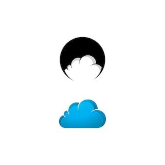 Abstracte wolk logo pictogram vector sjabloonontwerp