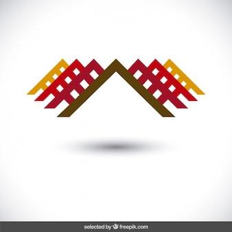 Abstracte woning logo