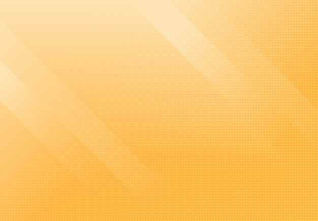Abstracte zacht licht van gele kleurverloop minimale sjabloon achtergrond met halftoon decoratie.
