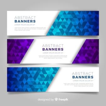 Abstracte zakelijke banners
