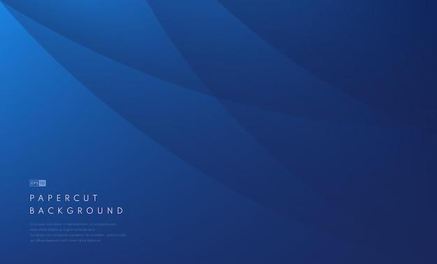 Abstracte zakelijke donkerblauwe golvende sjabloon achtergrond. moderne blauwe krommeachtergrond met exemplaarruimte.