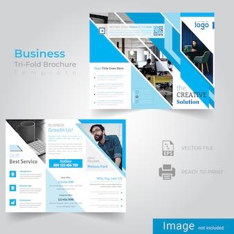 Abstracte zakelijke driebladige brochure