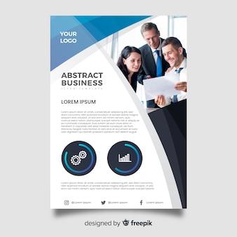 Abstracte zakelijke flyer met afbeelding sjabloon