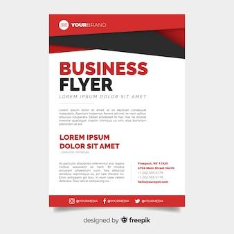 Abstracte zakelijke flyer met modern design