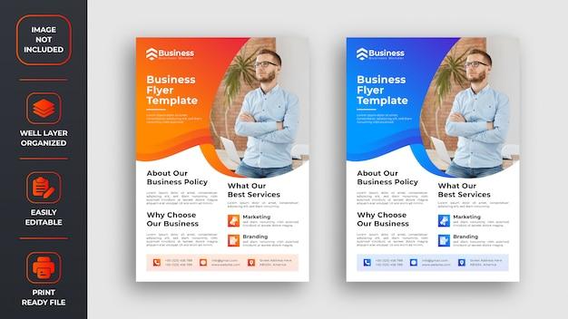 Abstracte zakelijke flyer ontwerp