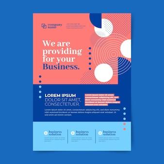 Abstracte zakelijke flyers