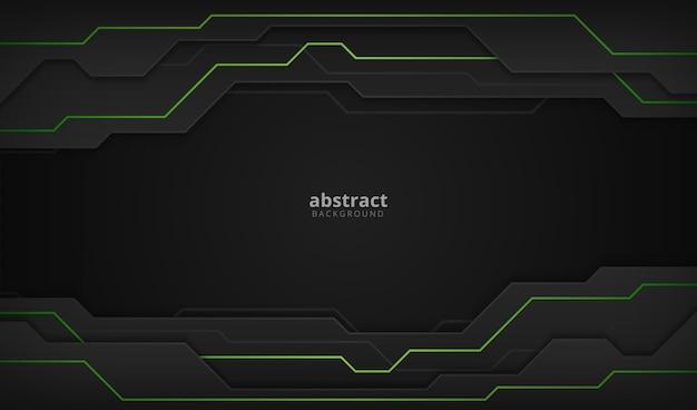 Abstracte zakelijke groene en zwarte tech moderne achtergrond
