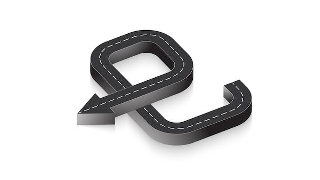 Abstracte zakelijke infographics in de vorm van een autoweg met wegmarkeringen. eps-10.