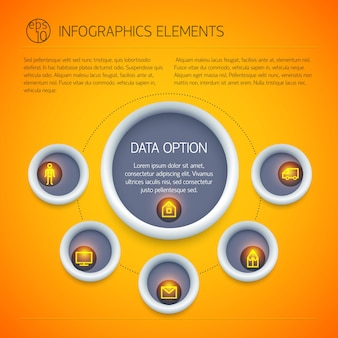 Abstracte zakelijke infographics