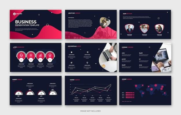 Abstracte zakelijke powerpoint-presentatiesjabloon of bedrijfsprofielsjabloon