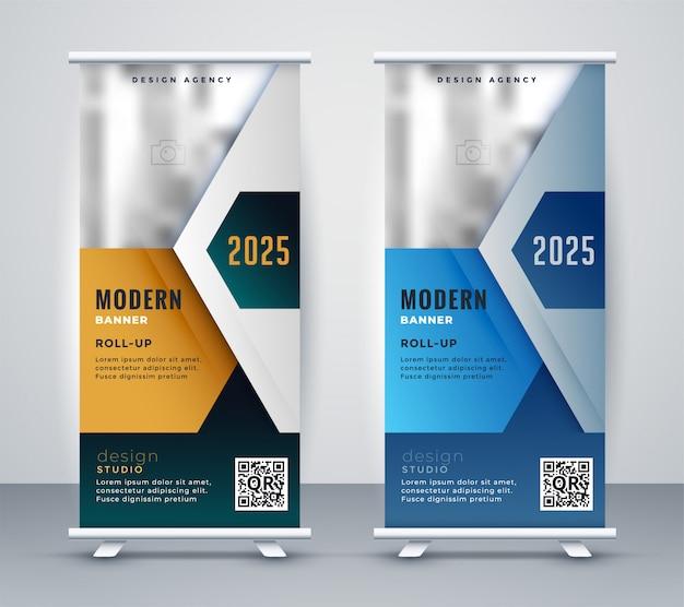 Abstracte zakelijke roll-up presentatie banner