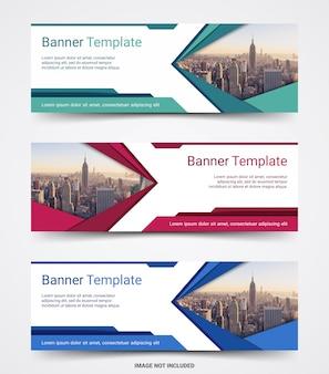 Abstracte zakelijke sjabloon voor spandoek banner