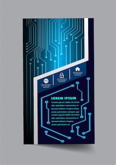 Abstracte zakelijke voorbladsjabloon, tekstvak banner, flyer infographic