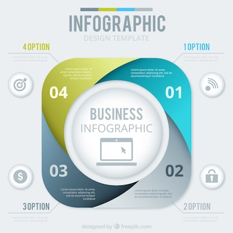 Abstracte zaken infographic template