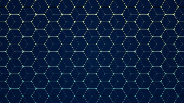 Abstracte zeshoek achtergrond