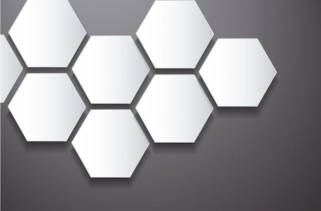 Abstracte zeshoek en ruimteachtergrond