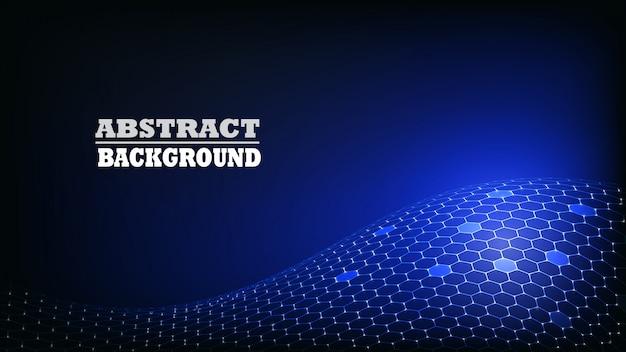 Abstracte zeshoek patroon moderne achtergrond. technologie