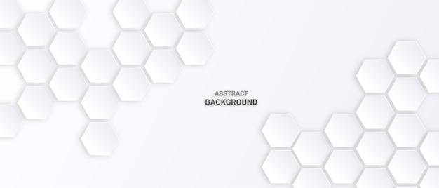 Abstracte zeshoek witte achtergrond.
