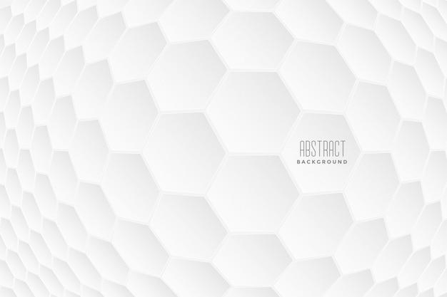 Abstracte zeshoekige 3d vormen witte achtergrond