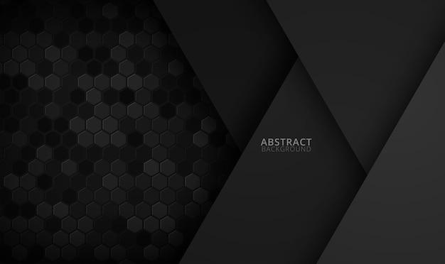 Abstracte zeshoekige achtergrond. futuristisch technologieconcept