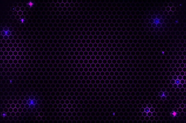 Abstracte zeshoekige cyber netto achtergrond