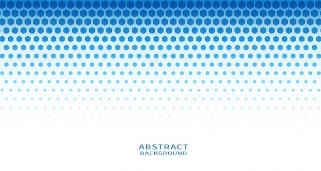 Abstracte zeshoekige halftone blauwe achtergrond