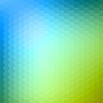 Abstracte zeshoekige, illustratie