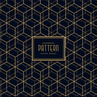 Abstracte zeshoekige lijn donker patroon achtergrond