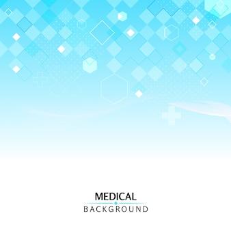 Abstracte zeshoekige medische achtergrond met geometrische vormen
