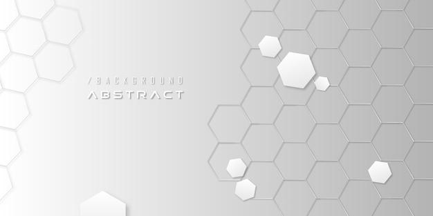 Abstracte zeshoekige moderne minimalistische achtergrond