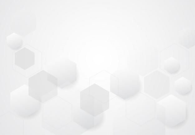 Abstracte zeshoekige moleculaire structuren op technische achtergrond