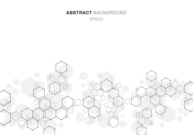 Abstracte zeshoekige molecuulstructuur van neuronsysteem