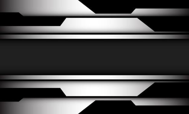 Abstracte zilver zwart cyber geometrische schaduw grijze lijn achtergrond