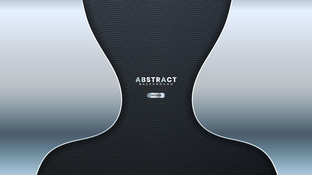 Abstracte zilveren lijnbanner op donkergrijs metallic krommeontwerp moderne luxe futuristische achtergrond vectorillustratie