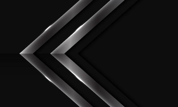 Abstracte zilveren pijl futuristische achtergrond