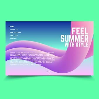 Abstracte zomer banner vector sjabloon