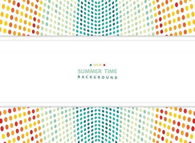 Abstracte zomer van kleurrijke mesh stippen achtergrond