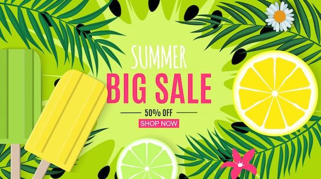 Abstracte zomer verkoop achtergrond.
